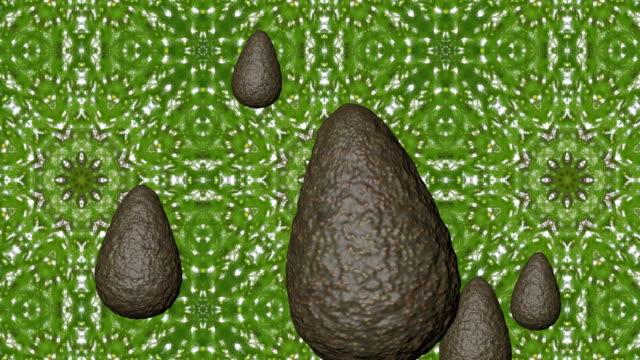 avocados background - animación digital stock videos & royalty-free footage