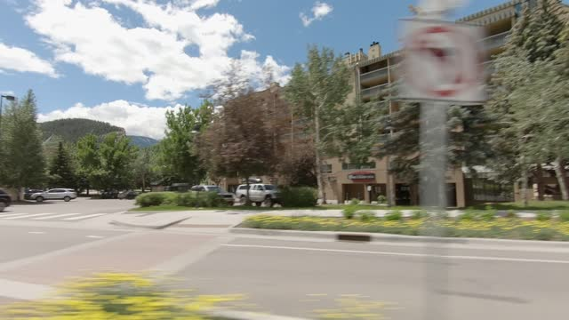 avon ski resort 4 synced series left summer driving - number 4 stock videos & royalty-free footage