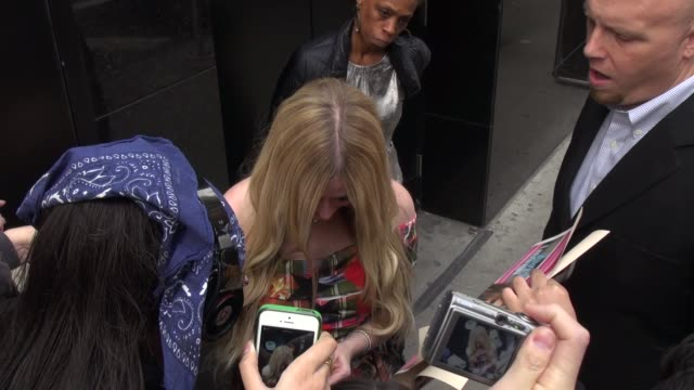 Avril Lavgine exits Good Morning America and signs for and poses with fans Celebrity Sightings in New York NY on 11/05/13