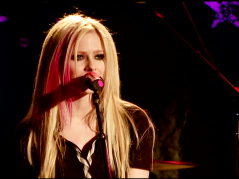 Avril Lavigne acoustic performance at the WhiskyaGoGo Los Angeles 11/6/07 in Hollywood California on November 7 2007