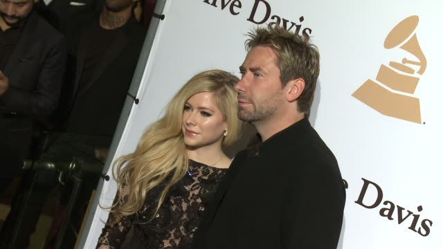 Avril Lavigne and Chad Kroeger at the 2016 PreGRAMMY Gala And Salute to Industry Icons Honoring Irving Azoff at The Beverly Hilton Hotel on February...
