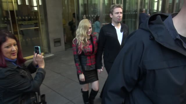 Avril Lavigne and Chad Kroeger depart the SiriusXM Radio studio
