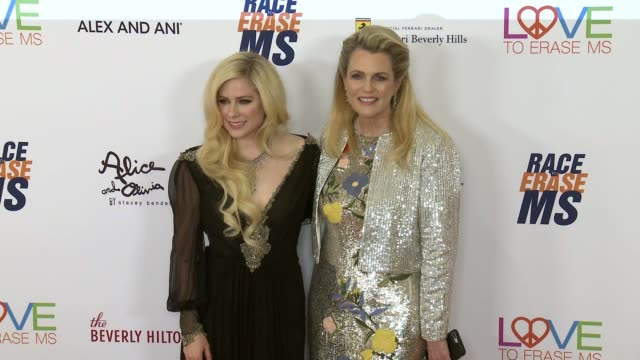 Avril Lavigne and Nancy Davis at the Race to Erase MS 25th Anniversary Gala at The Beverly Hilton Hotel on April 20 2018 in Beverly Hills California