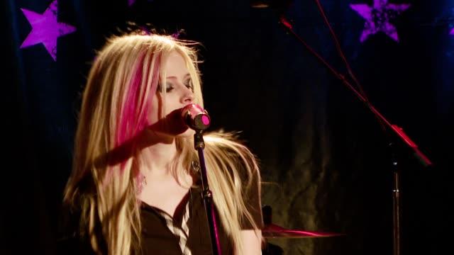 Avril Lavigne at the Avril Lavigne acoustic performance at WhiskyAGoGo in Los Angeles California on November 6 2007