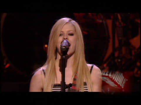 Avril Lavigne at the KIIS FM Jingle Ball Concert 2004 at the Pond of Aneheim in Aneheim California on December 4 2004