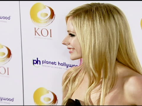Avril Lavigne at the KOI Las Vegas Grand Opening at Planet Hollywood in Las Vegas Nevada on November 9 2007