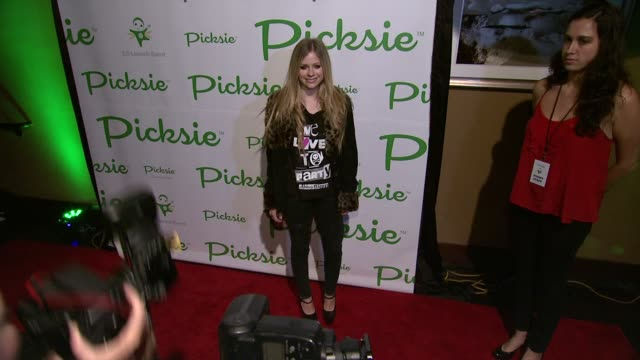 Avril Lavigne at the Picksie 20 Launches with Avril Lavigne at Lucky Strike at New York NY