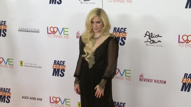 Avril Lavigne at the Race to Erase MS 25th Anniversary Gala at The Beverly Hilton Hotel on April 20 2018 in Beverly Hills California