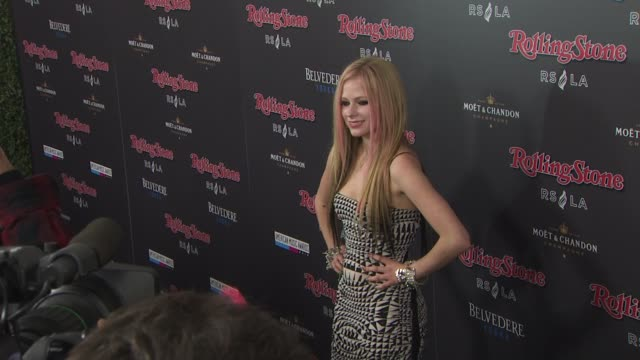 Avril Lavigne at the Rolling Stone Magazine Hosts American Music Awards After Party At Rolling Stone Restaurant Lounge at Los Angeles CA