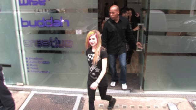 Avril Lavigne leaves a media studio in central London SIGHTED Avril Lavigne on February 15 2011 in London England