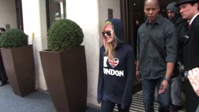Avril Lavigne leaves her hotel and visits a private central London studio SIGHTED Avril Lavigne on February 16 2011 in London England