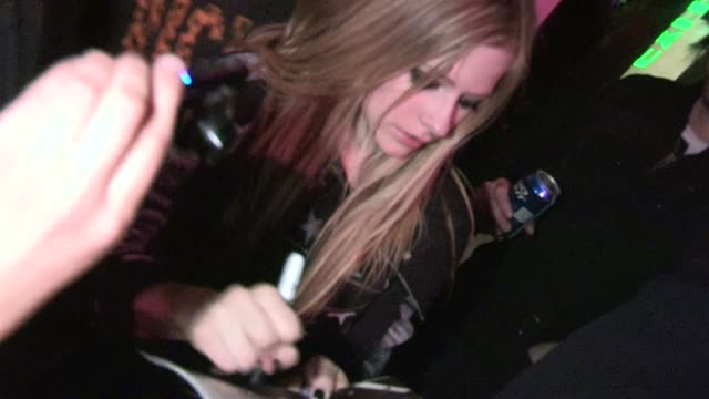 Avril Lavigne meets fans at Viper Room in West Hollywood 03/13/12