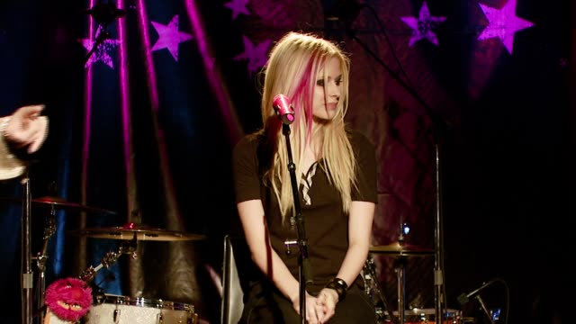 Avril Lavigne on being a role model at the Avril Lavigne acoustic performance at WhiskyAGoGo in Los Angeles California on November 6 2007
