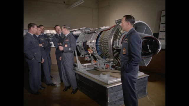 1959 raf avro vulcan air crewmen in training - supersonic airplane stock videos and b-roll footage