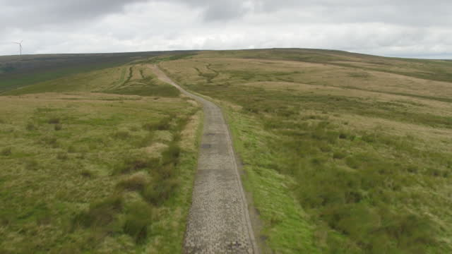 avs cotton famine road and moorland, uk - footpath stock videos & royalty-free footage