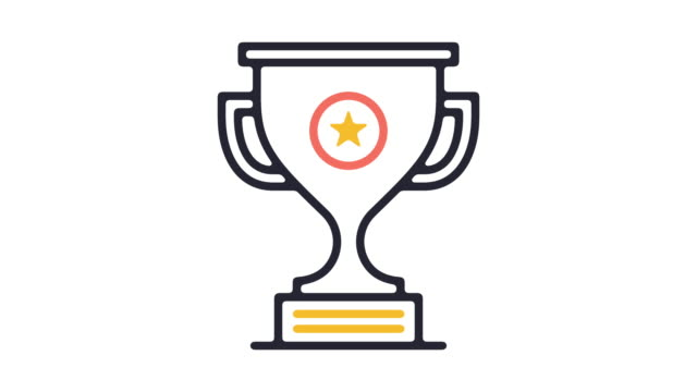 award ceremony line icon animation - award stock videos & royalty-free footage