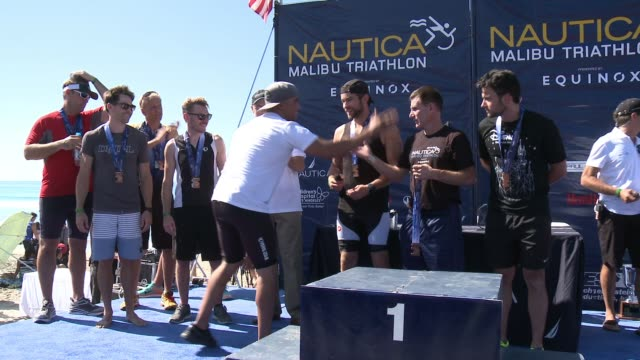 award presentations with jeffrey tambor jon cryer and chace crawford at nautica malibu triathlon presented by equinox on september 20 2015 in malibu... - jon cryer stock videos and b-roll footage