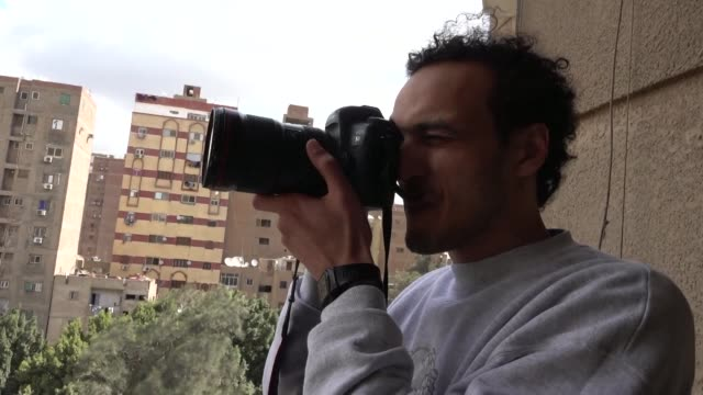 award winning egyptian photojournalist mahmoud abu zeid known as shawkan says he felt like he was flying after his release from prison on monday - egypt stock videos & royalty-free footage