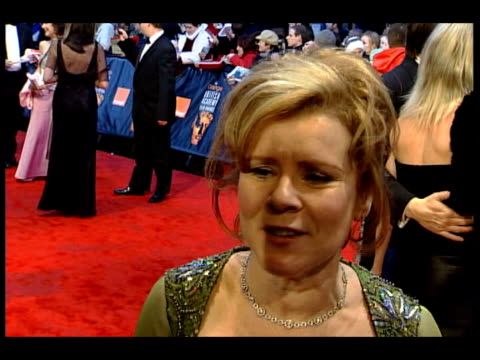 Awards 2005 ceremony Imelda Staunton interview SOT Talks abut not thinking about awards when making film just put our heads down getting on with the...