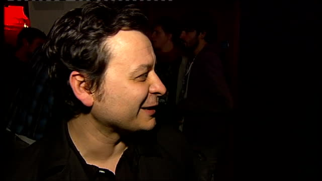 awards 2008; int james dean bradfield interview sot - talks about how his band deserves their 'genius' status - manic street preachers stock videos & royalty-free footage