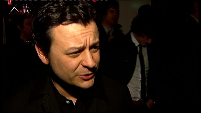 awards 2008; james dean bradfield interview sot - history of manics is a bit of a soap opera reporter to camera - soap opera stock videos & royalty-free footage