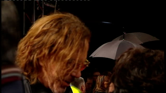 red carpet arrivals and interviews with itv news mickey rourke speaking to reporter on red carpet - mickey rourke actor stock videos & royalty-free footage