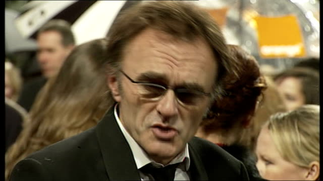 red carpet arrivals and interviews with london tonight; general views danny boyle speaking to press on red carpet terry gilliam interview sot - on... - heath ledger stock videos & royalty-free footage