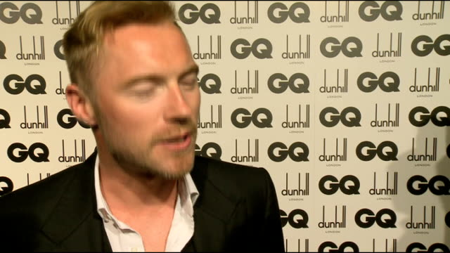 arrivals and interviews; ronan keating chatting to press / celebrities lined up speaking to press including keating, corden and katherine jenkins... - ronan keating stock videos & royalty-free footage