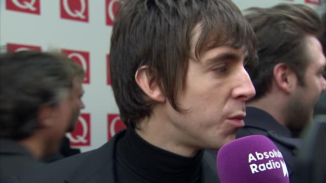 q awards at grosvenor hotel on october 24 2011 in london england - chester inghilterra video stock e b–roll