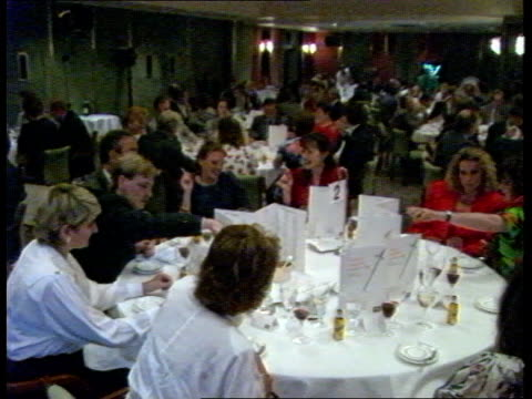 awards bnfl pr awards **** for england london hotel intercontinental gv people seated at dinner tables ms ditto bv bnfl representative walks up to... - environmental media awards stock videos & royalty-free footage