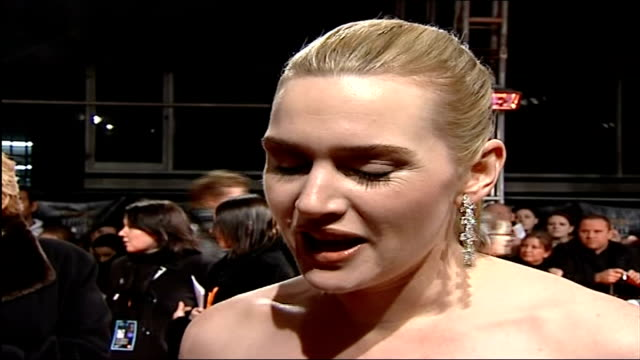 Awards ceremony Kate Winslet interview on red carpet SOT It's incredible I think this year I really do feel very overwhelmed to have been nominated...