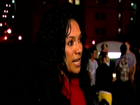 mobo awards founder kanya king pays tribute to musical legacy of pop star michael jackson ucla medical centre los angeles 26 june 2009 - michael jackson stock videos and b-roll footage