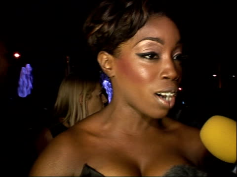interviews with artists and award winners estelle interview sot on her dress trying to keep it on not nervous on the way to getting recognition not... - madonna singer stock videos and b-roll footage