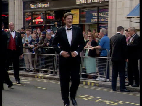 london ext people arriving for bafta awards members of the cast of coronation street including amanda barrie helen worth gaynor faye and adam rickitt... - stephen fry stock videos and b-roll footage