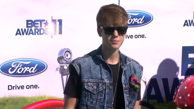 awards los angeles ca united states 6/26/11 - justin bieber stock videos & royalty-free footage