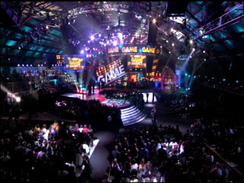 awards show at the cartoon network hall of game awards at santa monica ca. - television game show stock-videos und b-roll-filmmaterial