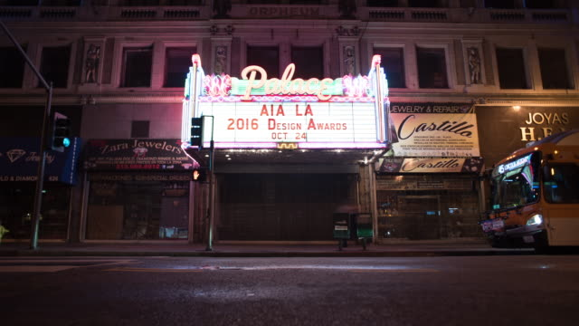 awards show - theater marquee commercial sign stock videos & royalty-free footage