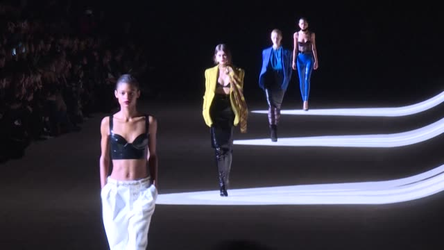 """aware of the radical changes"""" induced by the coronavirus epidemic, french fashion house saint laurent is withdrawing from the 2020 fashion weeks... - fashion week stock videos & royalty-free footage"""
