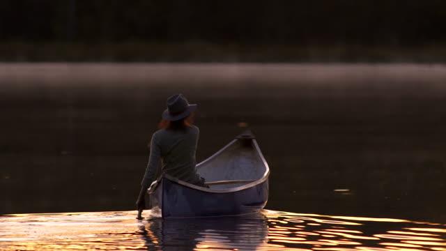 Away goes the canoe