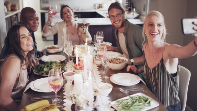 awesome feast with awesome friends - dinner party stock videos & royalty-free footage