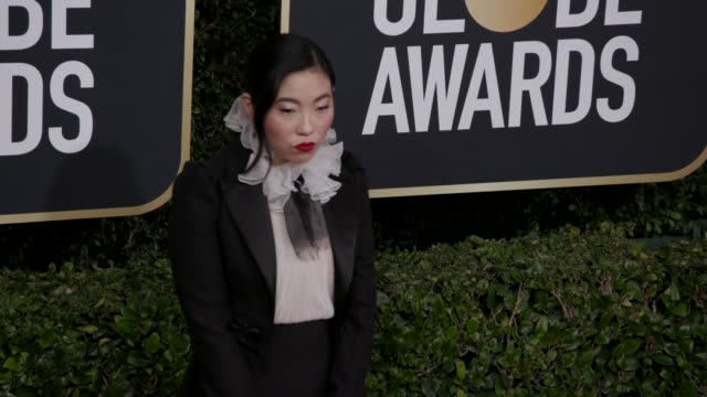 awkwafina at 77th annual golden globe awards at the beverly hilton hotel on january 05, 2020 in beverly hills, california. - golden globe awards stock videos & royalty-free footage