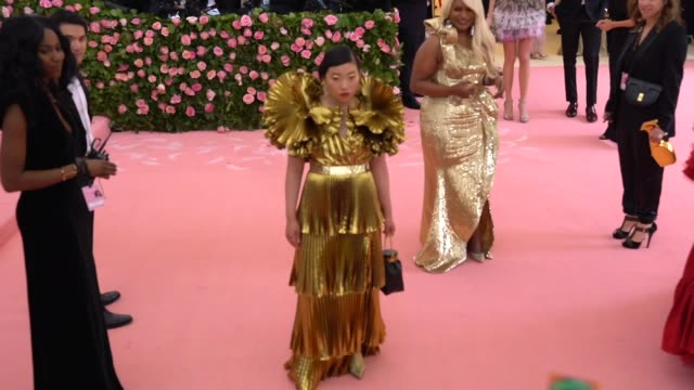Awkwafina at The 2019 Met Gala Celebrating Camp Notes on Fashion Arrivals at Metropolitan Museum of Art on May 06 2019 in New York City