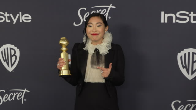 awkwafina at the warner bros. and instyle host21st annual post-golden globes party at the beverly hilton hotel on january 05, 2020 in beverly hills,... - warner bros stock videos & royalty-free footage