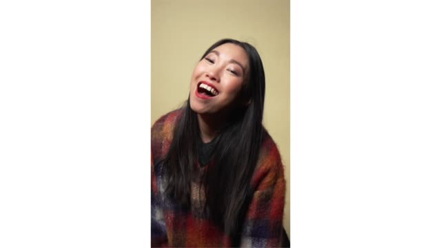 awkwafina from 'the farewell' poses for a portrait in the pizza hut lounge in park city utah on january 25 2019 in park city utah - park city stock videos & royalty-free footage