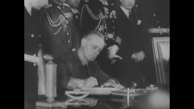 axis countries diplomats signing tripartite pact about their military alliance - agreement stock videos & royalty-free footage