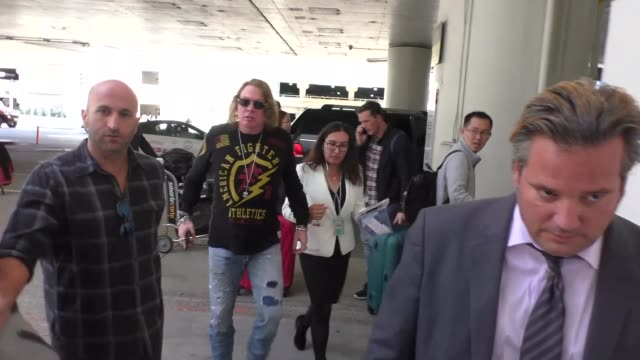 Axl Rose departing at LAX Airport in Los Angeles in Celebrity Sightings in Los Angeles