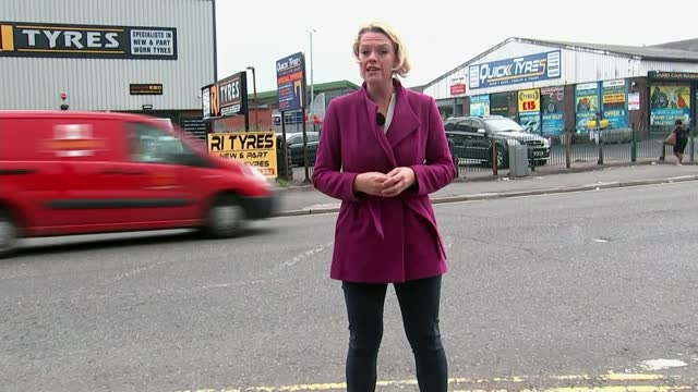 seven men jailed for life; england: lancashire: blackburn: ext reporter to camera - crime and murder stock videos & royalty-free footage