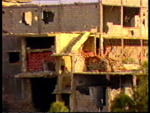 ayatollah khomeni death: reaction; lebanon: beirut the 'hostage hilton' the building where the hostages are thought to be held pull out - hostage stock videos & royalty-free footage
