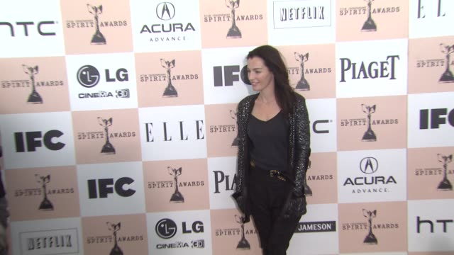 ayelet zurer at the 2011 independent spirit awards - arrivals at santa monica ca. - independent feature project stock videos & royalty-free footage