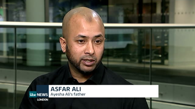 mother and her lover found guilty of manslaughter england london int asfar ali interview sot - itv london lunchtime news stock-videos und b-roll-filmmaterial